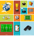 Football Tournament And Sport Flat Icon Design vector image
