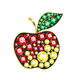 Gem Apple vector image vector image