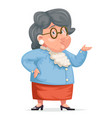 grandmother talking wise old woman granny vector image
