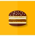 Hamburger icon Cheeseburger symbol Flat design vector image