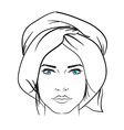 Hand drawn model woman icon vector image