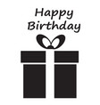 happy birthday card with giftbox happy birthday vector image vector image