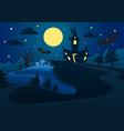 happy halloween poster banner template vector image vector image