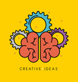 human brain creativity ideas business solution vector image vector image