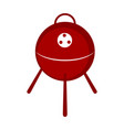 isolated bbq grill icon vector image vector image