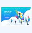 isometric entrepreneurs marketing research vector image vector image
