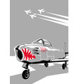 jet fighter ready for take off vector image vector image