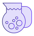 juice jug flat icon fresh beverage violet icons vector image vector image