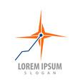 laser spark logo concept design symbol graphic vector image