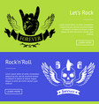 let s rock n roll collection colorful banners vector image vector image