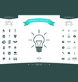 light bulb - new ideas vector image