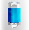 Liquid soap dispenser vector image vector image