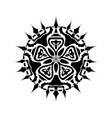 mandala geometry black one vector image vector image