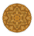 mandala golden decoration oriental decorative vector image vector image