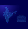 map india from printed board chip and radio vector image vector image