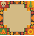 mexican frame decoration vector image vector image