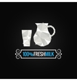 milk glass poly design background vector image vector image