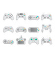 modern gamepad set in cartoon style vector image vector image