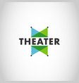 modern simple color theater logo design vector image