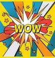 pop art comic wow vector image vector image