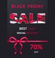 poster black friday limited promotion vector image