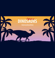poster world of dinosaurs prehistoric world vector image