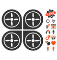 quadrocopter icon with dating bonus vector image vector image