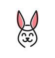 rabbit face smile logo vector image