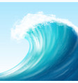 realistic sea big wave vector image vector image