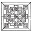 renaissance square panel is a venetian 15th vector image vector image