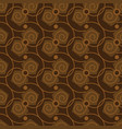 seamless abstract pattern in coffee color vector image vector image