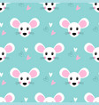 seamless pattern with cute mouse vector image vector image