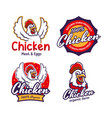 set fried chicken restaurant logo template vector image vector image