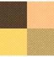 Set Orange Yellow Star Polka dot vector image vector image