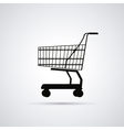 Shopping cart design Market icon Flat vector image