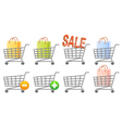 Shoppingcart set vector image vector image