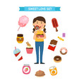 sweet party set vector image vector image