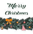 template christmas elements vector image