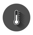 thermometer icon goal flat with long shadow vector image vector image