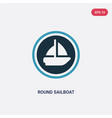 two color round sailboat icon from people skills vector image