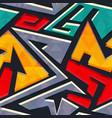 Urban style geometric seamless pattern vector image
