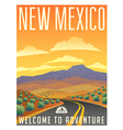 Vintage poster sticker USA New Mexico vector image vector image