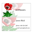 Visit card with floral pattern and sample text vector image