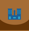 flat icon on brown square arabic mosque with the vector image