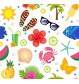 summertime seamless pattern bright summer vector image