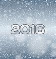 Blue Snow 2016 vector image