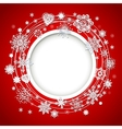 Abstract Christmas ball cutted from paper vector image