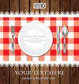 Empty Dinner Plate vector image