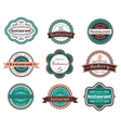Retro food labels and emblems vector image