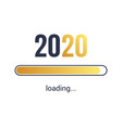 2020 loading calendar background cover vector image
